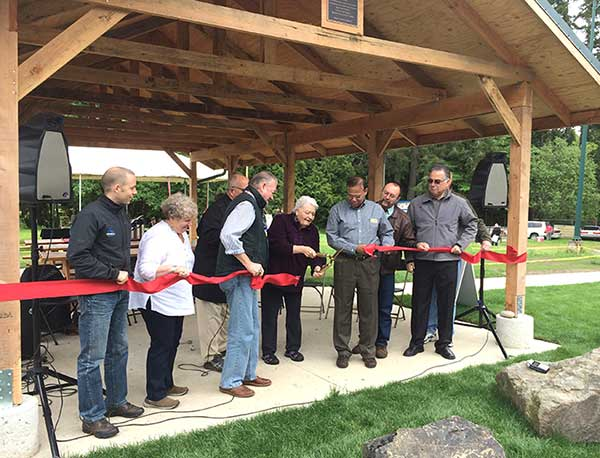Key Peninsula Civic Center picnic shelter dedication