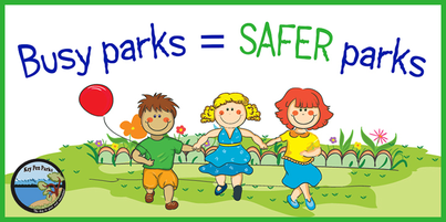Busy parks equal safer parks graphic